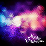 Vector Christmas background. Christmas ball. Retro backdrop. Blu Royalty Free Stock Photos