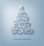 Vector Christmas background with Christmas tree Royalty Free Stock Image
