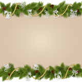 Vector Christmas Background with Decorations Royalty Free Stock Photo