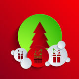 Vector christmas background. Eps 10 Royalty Free Stock Photo