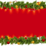 Vector Christmas Background with Garland Stock Images