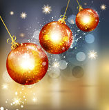 Vector Christmas background with glass balls Stock Image