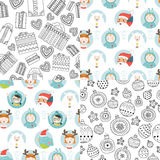 Vector christmas background set Stock Photo