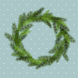 Vector christmas background with snowflake wreath Royalty Free Stock Photography