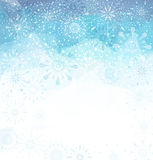 Vector Christmas background with snowflakes and snow Royalty Free Stock Photos