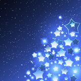 Vector Christmas Background with Stylized Star Stock Photos