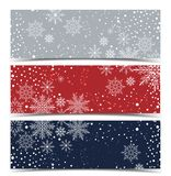 Vector Christmas backgrounds. Merry Christmas banners with snow Royalty Free Stock Photography