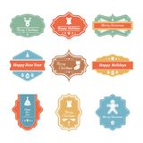 Vector Christmas badges collection Royalty Free Stock Images
