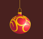 Vector Christmas Ball. Vector Christmas bauble with pattern Stock Photography