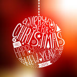 Vector christmas ball with new year lettering Royalty Free Stock Image