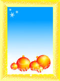 Vector christmas balls. Beautiful frame. Happy new year Royalty Free Stock Photos