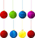 Vector christmas balls Royalty Free Stock Photography
