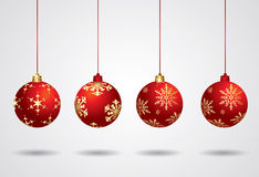 Vector christmas balls Stock Photo