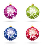 vector christmas balls Royalty Free Stock Image
