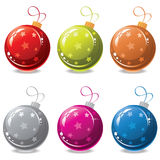 vector christmas balls Stock Photography