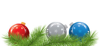 Vector Christmas Balls Stock Image