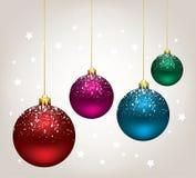 Vector Christmas balls Royalty Free Stock Photos