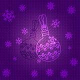 Vector Christmas Balls. Vector Christmas Background with Balls Stock Photo