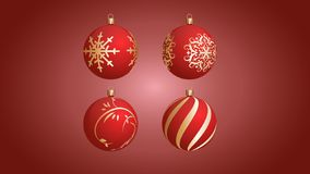 Vector Christmas balls with beautiful patterns. EPS 10. Vector Christmas balls with beautiful patterns stock illustration