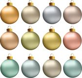 Vector Christmas Balls Pastel Metallic Colors Royalty Free Stock Photos