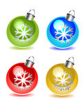 Vector christmas balls set Royalty Free Stock Images