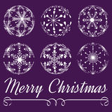 Vector christmas balls Royalty Free Stock Images