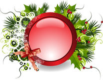 Vector christmas banner. Glass effect christmas banner for your advert Stock Images