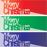 Vector Christmas Banner. Color Vector Christmas Banner set Stock Photos