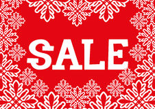 Vector christmas banner. Sale. Royalty Free Stock Photo