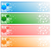 4 vector Christmas banners Stock Images
