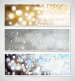 Vector Christmas banners for design. Royalty Free Stock Photography