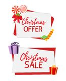 Vector Christmas banners for sale royalty free stock photos