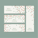 Vector christmas banners. Thin rectangle banners in trendy Crist Royalty Free Stock Images