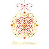 Vector Christmas bauble Stock Images