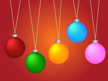 Vector Christmas baubles Stock Image