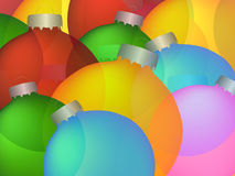 Vector Christmas baubles. Christmas colores baubles on a background Stock Image