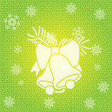 Vector Christmas Bells. Vector Christmas Background with Bells Stock Image