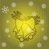 Vector Christmas Bells. Vector Christmas Background with Bells Royalty Free Stock Photography