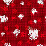 Vector Christmas Bells. Vector Christmas Background with Bells Royalty Free Stock Photo