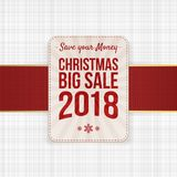 Vector Christmas big Sale festive Banner Element. Vector Christmas big Sale festive Banner graphic Element for Your Design Stock Photography