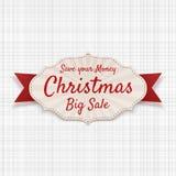 Vector Christmas big Sale festive Label Element. Vector Christmas big Sale festive Label graphic Element for Your Design Stock Photo