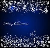 Vector Christmas blue background Royalty Free Stock Photos