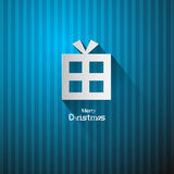 Vector Christmas Blue Background Stock Photography