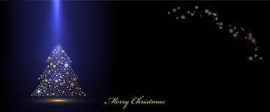Vector Christmas blue banner Stock Image