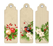 Vector Christmas Bookmark Royalty Free Stock Images