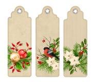 Vector Christmas Bookmark royalty free illustration
