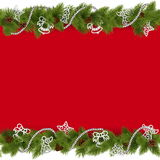 Vector Christmas Border with Beads Royalty Free Stock Images