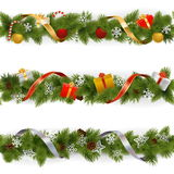 Vector Christmas Border Set 3 Stock Image