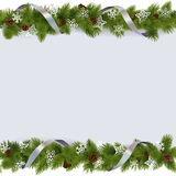 Vector Christmas Border with Snowflakes Stock Photography