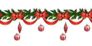 Vector Christmas Border Royalty Free Stock Image